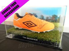 ✺Signed✺ TIM BRASHER Football Boot PROOF COA Wests Tigers NRL 2018 Jersey
