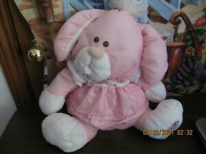 Fisher Price Puffalump Bunny Pink Rabbit Plush Stuffed Animal Toy 1986 Vintage