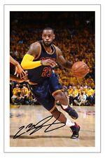 Lebron james cleveland cavaliers Autographe Signé Basket d'impression photo