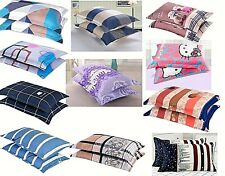 2 pcs luxury pillow case true color fast smooth poly cotton extra thick durable