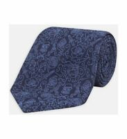 Turnbull & Asser Jack-of-all Navy & Blue Silk Tie 8cm