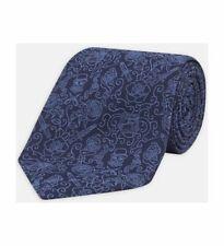 Turnbull & Asser Jack-of-all Navy & Blue Silk Tie 8cm