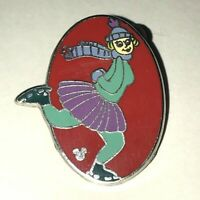 Disney Pin DLR 2013 Hidden Mickey Series *Toontown Pinwheels* Ice Skater!