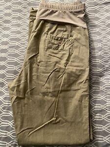 Belly By Design Maternity Cargo Pants Khaki Maternity khakis Pants size Medium