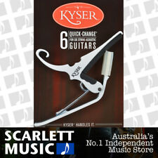 Kyser KG-6W 6-String Quick-Change Capo for Acoustic Guitars - White