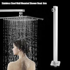 "16"" 40cm Square Chrome Wall Mounted Shower Extension Arm For Rain Shower Head"