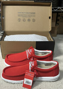 Hey Dude Mens Wally Sox Flame Shoes Size 11
