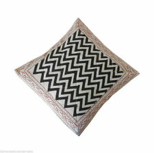 """5 Pcs Indian Handmade Pillow Case Sofa Decor Quilted Plaid Cushion Covers 16"""""""