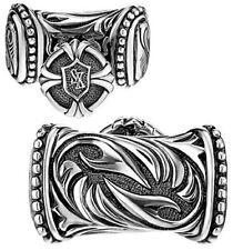 Filigree Designed New Cuff Links For Men Jewelry Gift 14k White Gold Cz Best