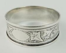 Victorian sterling silver napkin ring 1897