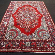 Orient Teppich Rot 306 x 200 cm Perserteppich Rot Handgeknüpft Red Carpet Rug