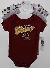 NFL Washington Redskins 3 Pack Gray Maroon White Bodysuit Size 18 months NWT