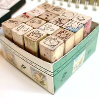 All Night  Media 16 Mini Vintage Disney's Classic Winnie The Pooh Rubber Stamps