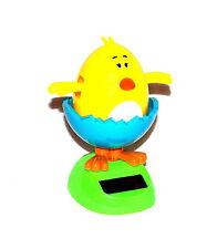 1x Solar Wackelfigur Solarfigur Tanzende Figur Süßes Baby Küken Auto Ostern Deko
