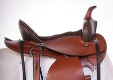 "USED 16"" WESTERN COMFY CUSH TOOLED LEATHER ENDURANCE PLEASURE TRAIL HORSE SADDLE"