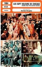 FICHE CINEMA : LES SEPT VOLEURS DE CHICAGO - Sinatra,Martin,Crosby,Falk 1964