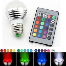 E27 3W 16 Color RGB LED Light Bulb Lamp IR Remote Control House lighting