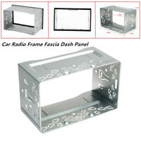 2Din Car Radio Frame Fascia Dash Panel for DVD Player Stereo Mount Trim Silver