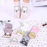Cute Cartoon Dog Design Women Cotton Socks Soft Sock Spring Summer Casual Sock
