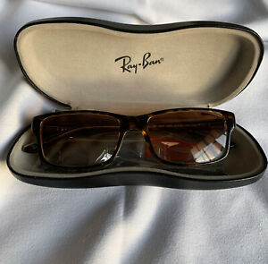 Authentic Brown Faux Tortoishell Ray Ban Sunglasses Pre Owned Unisex