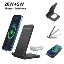 2In1 25W Qi Wireless Charger Charging Dock Stand For iPhone 12 Pro X Samsung S20