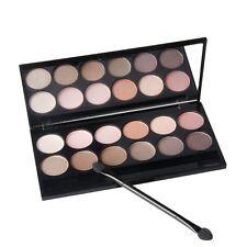 Hot Warm 12 Colors Cosmetic Matte Eyeshadow Palette Makeup Eye Shadow Set+Mirror