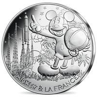 BUNC 17G SILVER 10 Euro 2018 France coin Mickey Mouse Spaceship Countdown XMAS