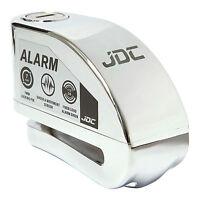 JDC MOTORCYCLE Motorbike Disc Lock ALARM - JAWS - Chrome