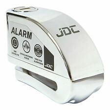 JDC MOTORCYCLE Motorbike Disc Lock ALARM - JAWS - Chrome