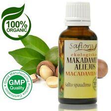 Macadamia Oil 30ml / 1.1oz | 100% Pure Organic Cold Pressed