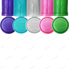 More details for 13/19 dram pop top translucent squeeze pot container smell proof child proof