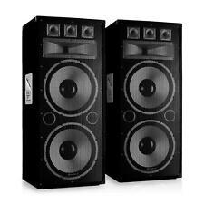 Impianto Audio Coppia Casse Passive Altoparlanti Passivi Portatile 300W RMS