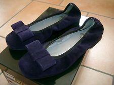 (z99) dolce Equerry girls scarpe Ballerine Camoscio Viola con Fiocco gr.30