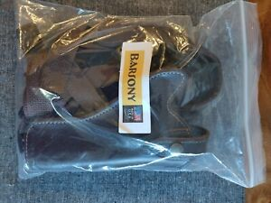 Barsony brown leather shoulder holster - revolver 3 to 5 inch barrel