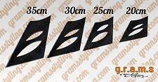 Universal 20 25 30 35 cm CARBON FIBRE Spoiler Legs, for Racing, Drift V6