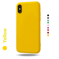 Soft Matte TPU Silicone Phone Case Cover Apple iPhone XS Max XR X 11 8 7 6 Plus