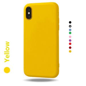 Soft Matte TPU Silicone Phone Case Cover Apple iPhone 12 11 Pro Max XR X XS 8 7