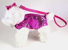 Pink & White Dog Sequin Purse w/ Shoulder Strap Girls Purse Bag Super Cute!