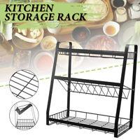 3-Tier Kitchen Shelf Spice Jar Canned Rack Holder Stand Bath Organizer Cabinet