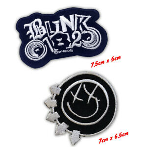 Blink 182 Rock Music Band Logo badge Iron on Sew on Embroidered Patch