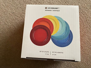 Le Creuset Stoneware Rainbow Side Plates (Set of 6)