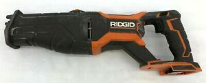 Ridgid R8643B 18V Li-Ion Cordless Brushless Reciprocating Saw w/ Blade G M