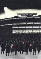 Old Trafford's Welcoming Glow - Man Utd FC Sid Kirkham - Mounted Fine Art Print