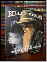The Big Bad Blues ✎SIGNED♫ by BILLY GIBBONS ZZ Top New LP Gold Ink Cover Patch