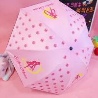 Cute Sailor Moon Princess Anti-UV Shade Creative Girls Pink Sunny Umbrella Gift