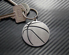 BASKETBALL Team Sport NBA FIBA Keyring Keychain Key Bespoke Stainless Steel Gift