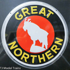 """Microscale Metal Sign #10004 Great Northern (8"""" Die Cut, Embossed Metal Sign)"""