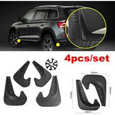 4pcs Car Accessories Black Universal Mud Flaps Guards Splash Molded Front Rear