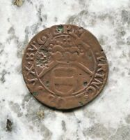 LIEGE - HISTORICAL MAXIMILIAN HENRY COPPER LIARD, ND(1650-88), AE 23, KM# 72