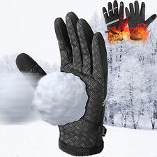 Mens Winter Sports Thermal Warm Gloves Windproof Waterproof Ski Driving Mittens